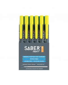 Saber Paint RT - Yellow, 6 Pack